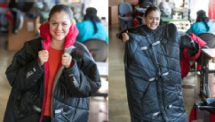 PHOTO: The Empowerment Plan Founder, Veronika Scott models the self-heated, waterproof, all-in-one coat and sleeping bag she designed for the homeless Monday, Sept. 10, 2012 in Detroit, Mich.