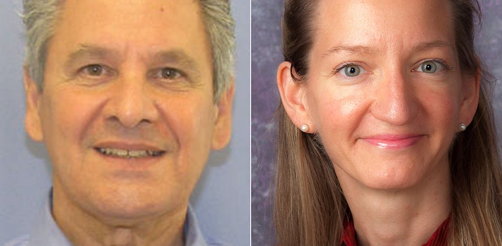 PHOTO: Dr. Robert Ferrante, left, is seen in this handout photo from the Allegheny County District Attorneys Office, which is investigating Ferrante for his possible role in the death of his wife, Dr. Autumn Klein, right, who is seen in this July 27, 201