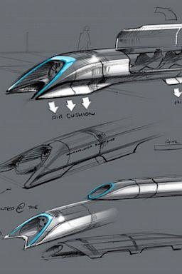 PHOTO: Elon Musk unveiled the first sketch of his long-teased Hyperloop transportation system.