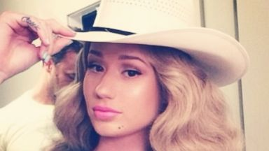 "PHOTO: Iggy Azalea posted this image to her Instagram on July 19, 2014 with the caption, ""#BarbieStampede."""