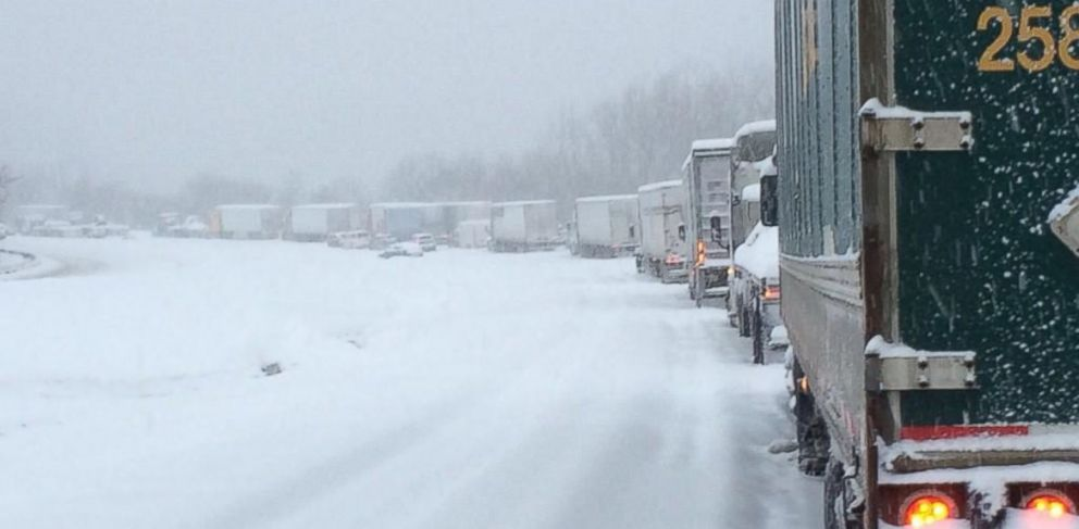 PHOTO: A Twitter user uploaded this photo of the I-65 backup in Kentucky on March 5, 2015.
