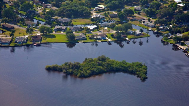 PHOTO: This island is up for auction in a private online auction in Fort Meyers, FL.