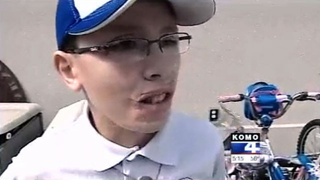 PHOTO: Washington state boy Jake Finkbonner who nearly died five years ago got his second chance at life thanks to a modern day miracle.