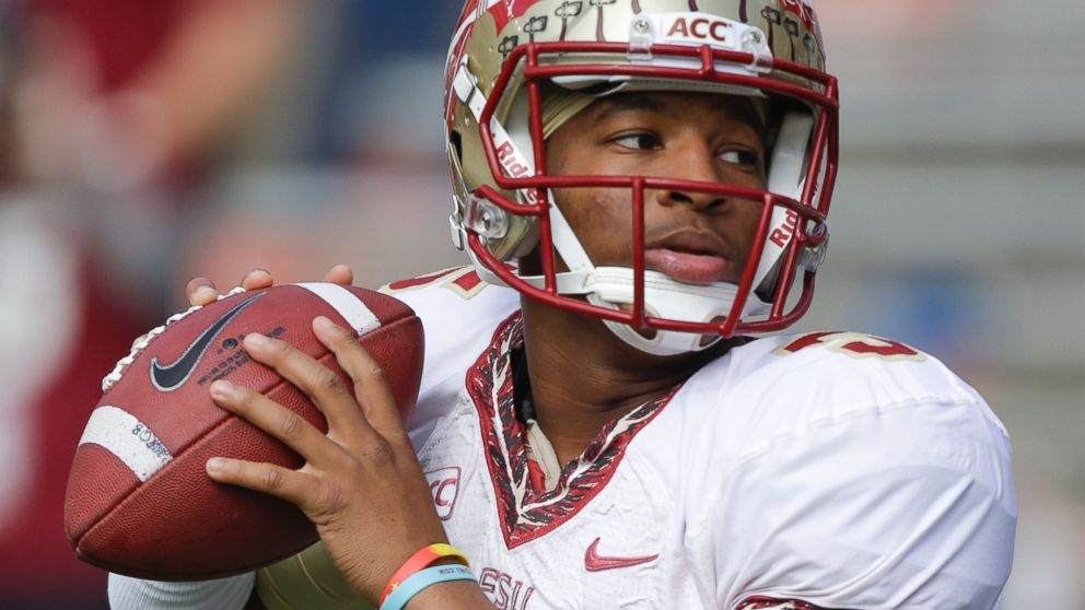 PHOTO: In this Nov. 30, 2013, file photo, Florida State quarterback Jameis Wi