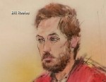 PHOTO: A sketch of a preliminary hearing for accused movie theater gunman James Holmes, Jan. 7, 2013. He is accused of killing 12 people and wounded dozens more in the movie theater massacre.
