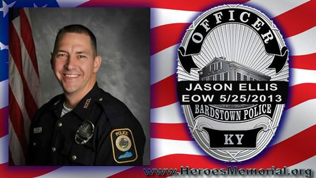 PHOTO: Officer Jason Ellis of the Bardstown Ky. police department is shown in this photo.