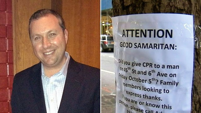 PHOTO: Jason Kroft and Good Samaritan poster