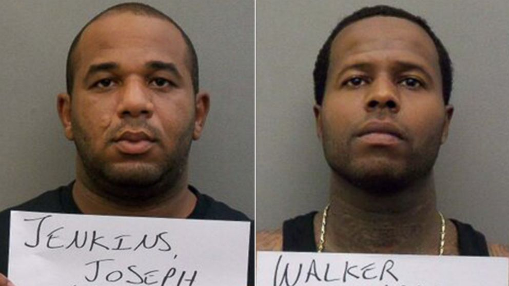 PHOTO: Joseph Jenkins, left, as seen at the Orange County Jail on Sept. 30, 2013 and Charles Walker, right, as seen at Orange County Jail on Oct. 11, 2013. Both men escaped from prison and are currently being pursued in a national manhu