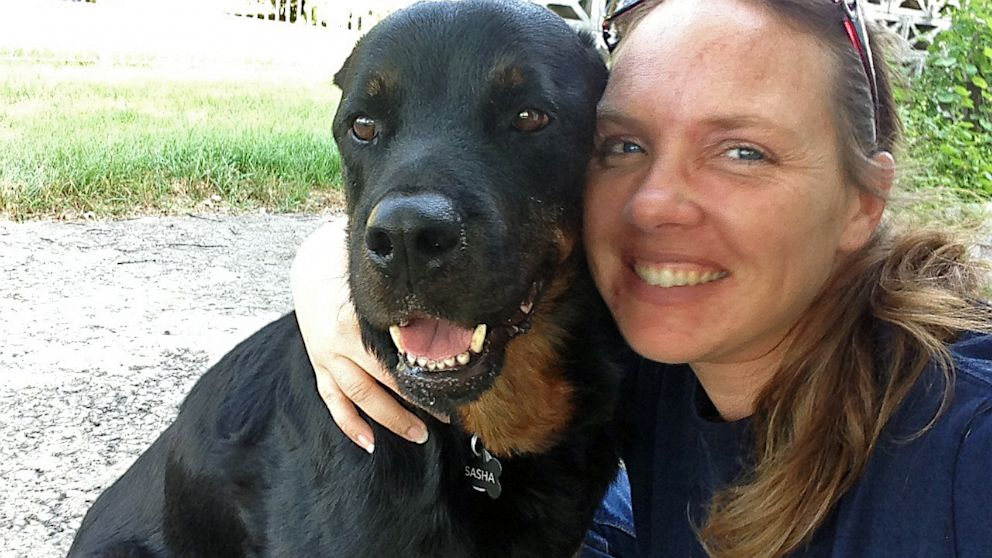 PHOTO: Jennifer Koczan and her Rottweiler Sasha