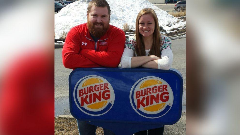 King and burger wedding