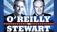 PHOTO: Jon Stewart,  anchor of Comedy Central?s ?The Daily Show,? and Bill O?Reilly, the Fox News personality and host of ?The O?Reilly Factor,? will face each other in a 90-minute debate on Oct. 6, 2012.