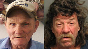 PHOTO: The identity of Larry Smith, shown left, was allegedly stolen by Joseph Kidd, shown in this booking photo, right, for the past 17 years, said Placer County Sheriff spokesperson Dena Erwin.