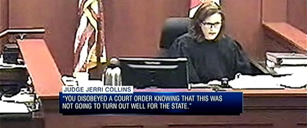 PHOTO: A Florida judge sentenced a domestic violence victim to three days in jail after she failed to show up to her alleged abusers trial in July.