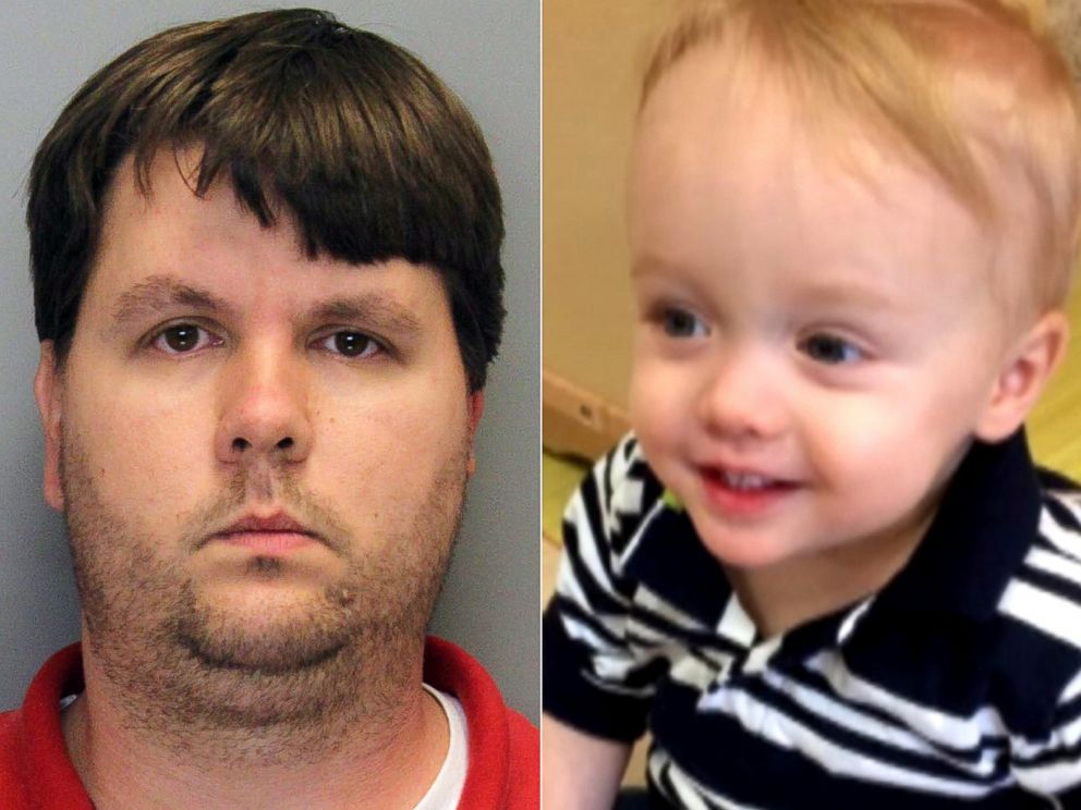 PHOTO: Justin Harris, left, is seen in this undated mug shot after his arrest on felony murder charges for the death of his son, Cooper Harris, seen right in this undated handout photo.