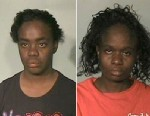 PHOTO: Karimah Aisha Elkins, left, DeMarquises mother and Katrina Latrelle Elkins, right, were arrested for allegedly providing false statements or writings.