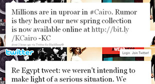 PHOTO In these screengrabs, tweets from Kenneth Coles twitter stream are shown.