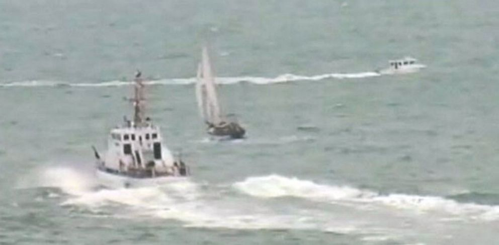 PHOTO: A boater was chased and detained by the U.S. Coast Guard after he refused a request to allow authorities to board his boat on July 21, 2013 near Sausalito, Calif.