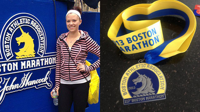 PHOTO: Laura Wellington was a half mile from the Boston Marathon finish line when the blast went off and was unable to finish the race.