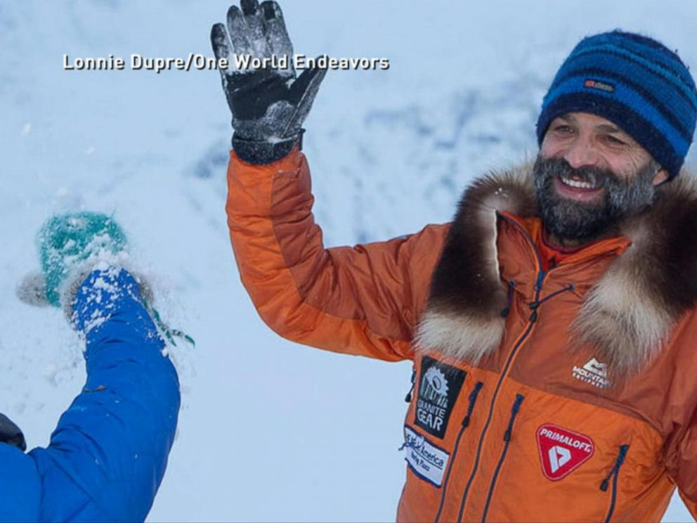 PHOTO: Lonnie Dupre is the first person to summit North Americas highest peak in the middle of winter.