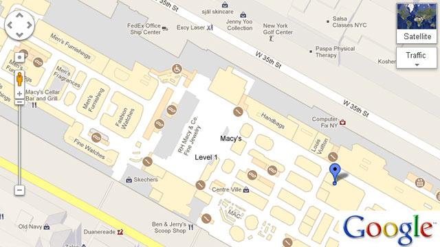 Ht Macys Dm 121122 Wmain Black Friday Shoppers Treated To Google Maps New Indoor Floor On Macys Floor Plan Layout
