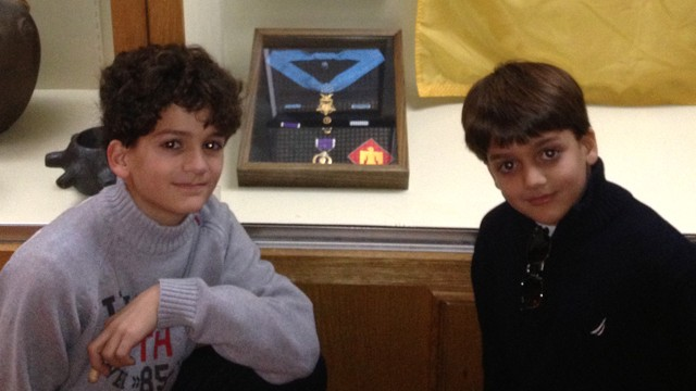 PHOTO: Michael and Mario Mazzariello, 8 and 11, tracked down the owner of medals found in an antique store.