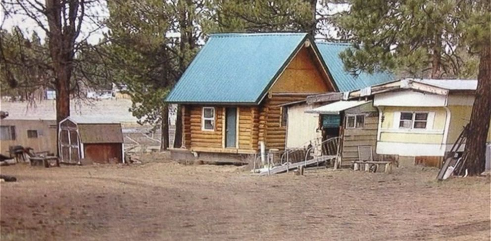 PHOTO: A cabin in Klamath County, Ore., was stolen and was later discovered half a mile away across a field.