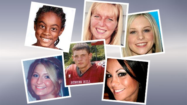 PHOTO: Clockwise from left: Asha Degree, Allison Jackson Foy, Holly Bobo, Michelle Parker, Travis Barker, and Lauren Spierer.