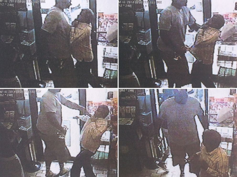 PHOTO: Police in Ferguson, Mo., said teenager Michael Brown was the primary suspect in an alleged convenience store robbery - police say is shown in these surveillance stills - shortly before Brown was shot by a police officer.
