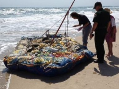 Mysterious Raft Washes Ashore, Sparks Coast Guard Search
