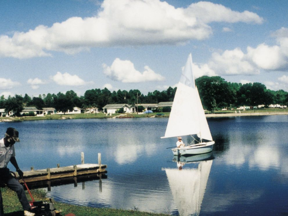 PHOTO: A lake provides boating and fishing for residents.