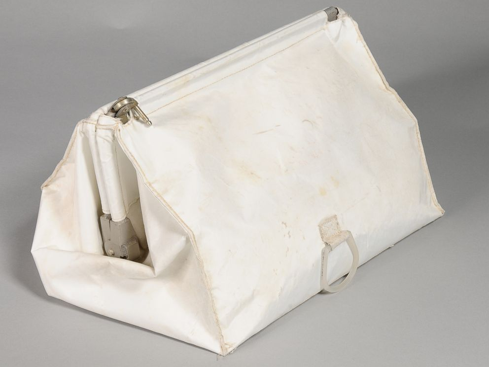 PHOTO: This bag, also known as a McDivitt Purse, was stowed in the Lunar Module during Apollo 11.