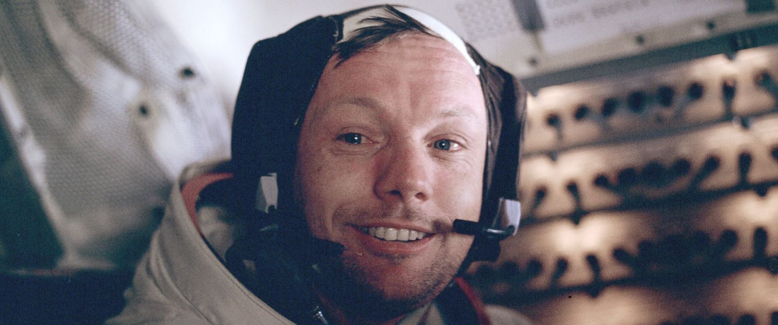 PHOTO: Neil Armstrong in the cabin during the Apollo 11 mission on July 21, 1969.
