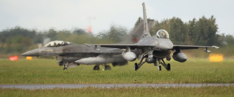PHOTO: This PRT F-16 at Siauliai Air Base, Lithuania is one of the more than a dozen fighter jets that had to scramble to intercept Russian fighter jets.