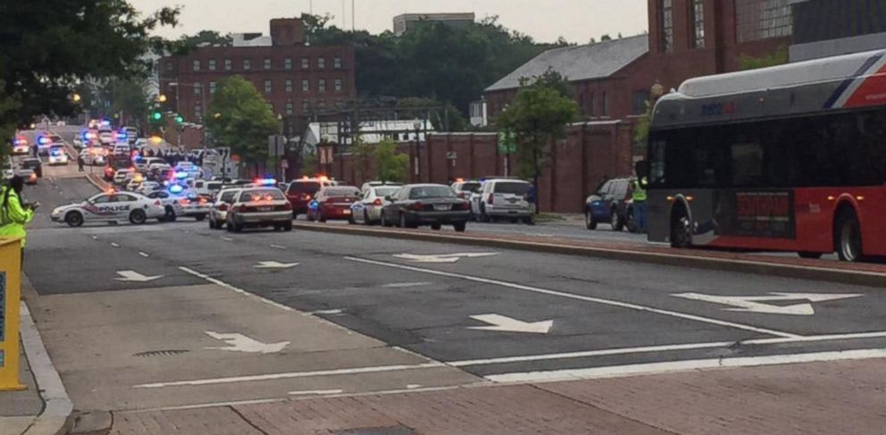PHOTO: A photo posted to Twitter by Alex Prewitt on July 2, 2015 with the caption, Scene in Navy Yard.