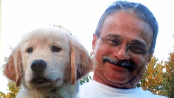 PHOTO: Vishnu Pandit, 61, pictured here with his dog in this undated photo provided by the Pandit family.