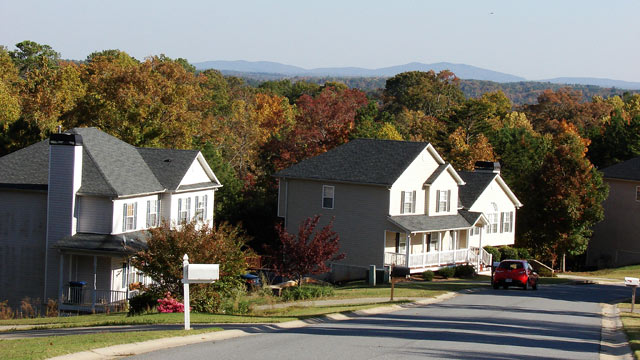 PHOTO: Houses in the town of Nelson, Ga. with population 1,317.