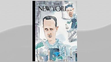 "PHOTO: This New Yorker cover shows Bashar al-Assad and Walter White from ""Breaking Bad."""
