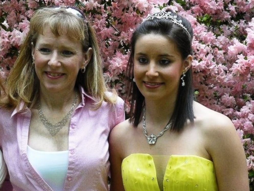 Nique Leili (left) is shown here with her daughter Alex Peters (right) before Alex went to her high school prom.