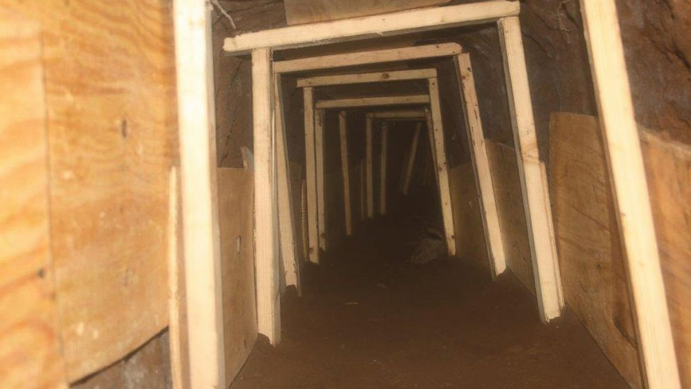 PHOTO: An unfinished tunnel was found in between Mexico and the United States in Nogales, Ariz.
