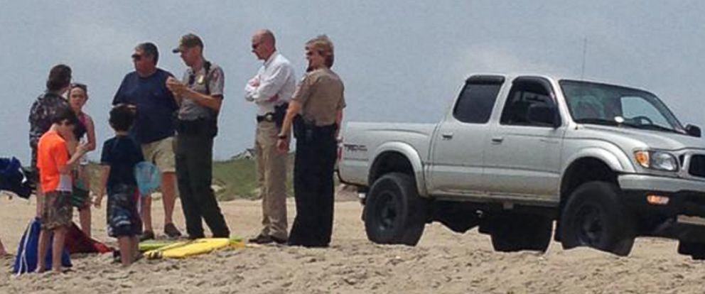 PHOTO: This image tweeted by Mike Will shows an alleged shark attack in North Carolina on June 26, 2015.