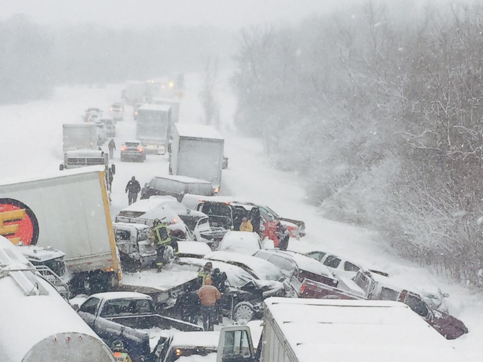 Mercedes Rochester Ny >> Massive Pileup Shuts Down Interstate 81 in New York - ABC News