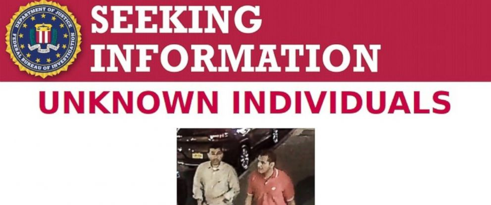 PHOTO: The FBI released a surveillance image of two unidentified men who apparently made off with a bag that had contained one of the explosive devices allegedly planted by Chelsea bombing suspect Ahmad Rahami.