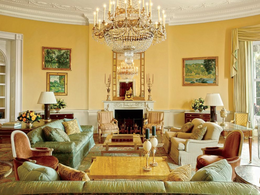 PHOTO: The Yellow Oval Room has been used as a formal living room and also