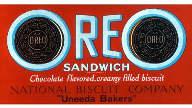 PHOTO: The name &quot;Oreo biscuit&quot; was changed to &quot;Oreo sandwich&quot; in 1921. <p> Oh! Oh! Oreo! was an iconic advertising slogan.