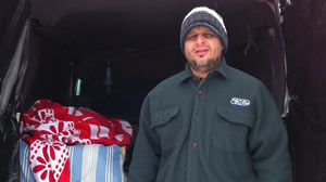 Ryan Riddell has chosen to be homeless this month to raise awareness about homelessness in America.