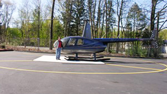 PHOTO: Paul Blanchette and his helicopter