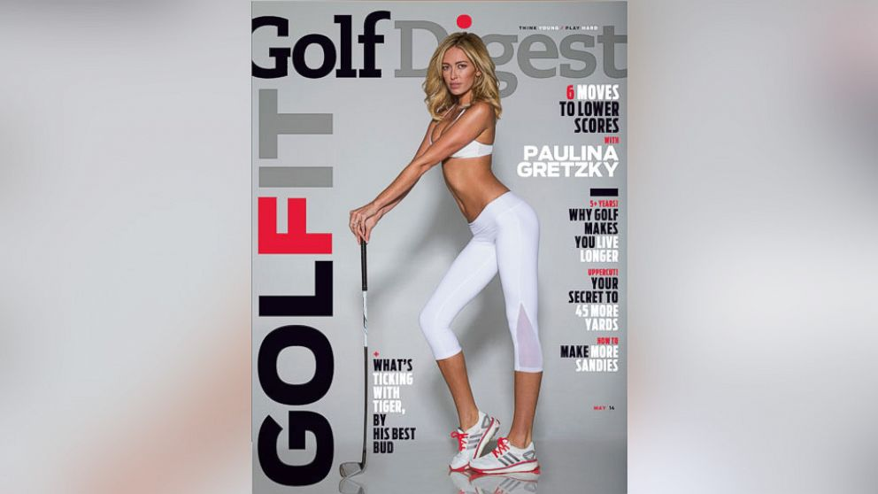 PHOTO: Paulina Gretzky poses on the May 2014 cover of Golf Digest.