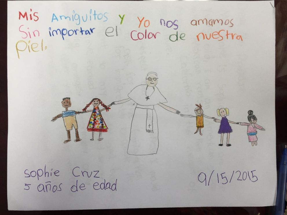 photo five year old sophia cruz wrote a letter to pope francis