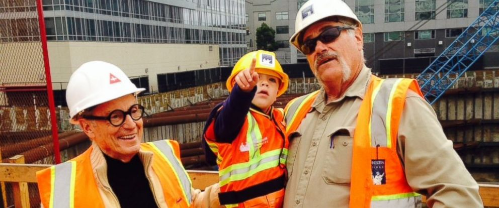 PHOTO: Renzo Lombardis wish to be a construction foreman was granted by Make-A-Wish Greater Bay Area.
