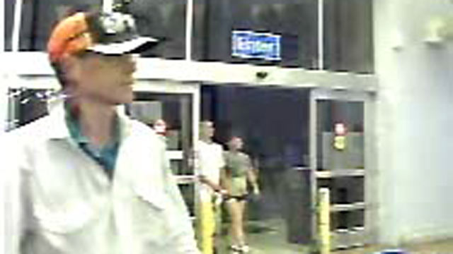PHOTO: The Aberdeen Police Department in Maryland released a surveillance photo of the man suspected of abducting Vi Ripken, 74, on July 24, 2012. She is the mother of baseball hall of famer Cal Ripken Jr.